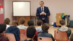 Rencontre avec les délégués de classe du collège d'Avrillé
