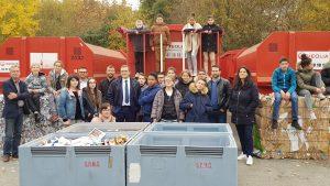 11/2017 - Avrillé - Opération recyclage de papier avec la classe SEGPA du collège Clément Janequin