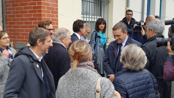 Visite à Angers de Jacques Mézard, ministre de la cohésion des territoires