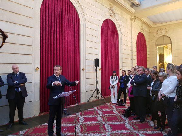 01/2018 - Paris, Palais de l'Elysée - Rencontre avec le Président de la République