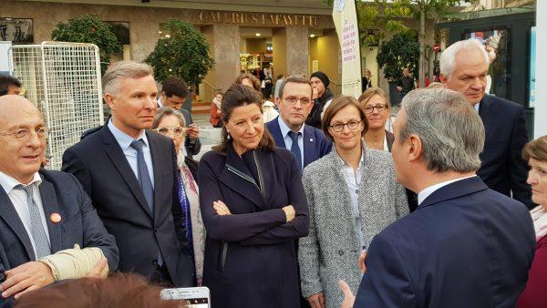 11/2017 - Angers - Visite d'Agnès Buzin, Ministre de la santé et des solidarités