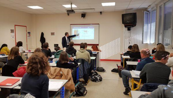 11/2017 - Angers - Intervention devant une classe de Terminale du lycée Renoir
