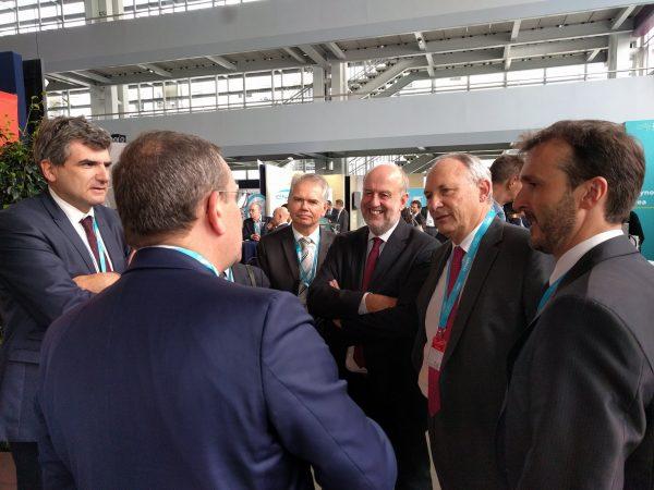 10/2017 - Angers - Echange avec Philippe Monloubou, PDG d'Enedis, lors du World Electronic Forum 2017
