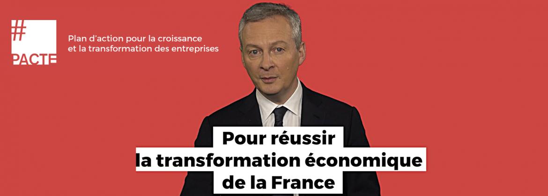Bruno Le Maire détaille son plan d'action pour les entrreprises PACTE