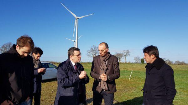 01/2018 - Freigné - Visite du parc éolien de Freigné