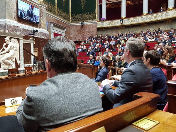 04/2018 - Paris, Assemblée nationale - Présence de Justin Trudeau, 1er ministre du Canada