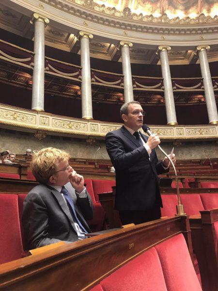 10/2017 - Paris, Assemblée nationale - Intervention dans l'hémicycle aux côtés de Marc Fesneau
