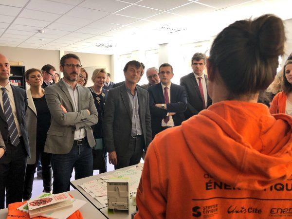 04/2018 - Angers - Annonce de Nicolas Hulot sur le plan de rénovation thermique