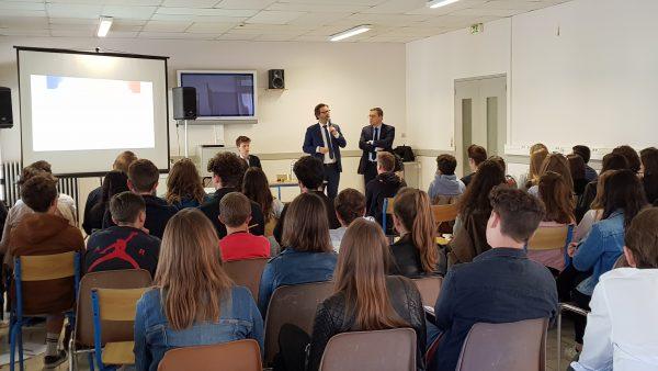 05/2018 - Segré - Recontre avec des élèves du lycée du Bourg-Chevreau