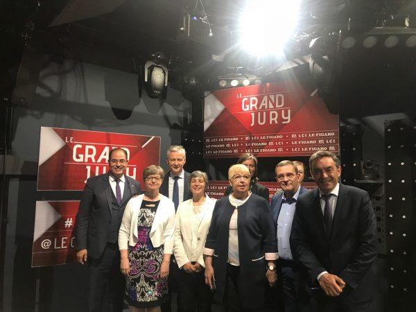 06/2018 - Paris - Grand Jury RTL LCI Le Figaro avec Bruno Le Maire
