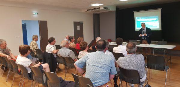 07/2018 - Saint-Michel-et-Chanveaux - Réunion avec les élus locaux