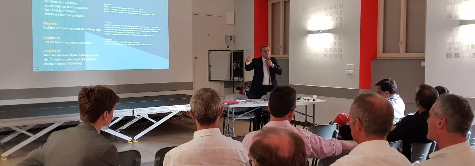 Réunion de présentation du projet de loi PACTE, au Louroux-Béconnais