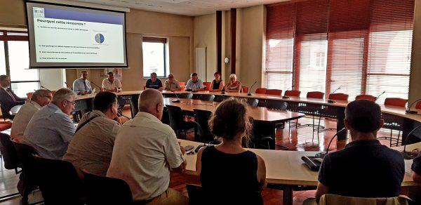 07/2018 - Segré - Rencontre avec des élus locaux pour présentation du bilan après un an de mandat
