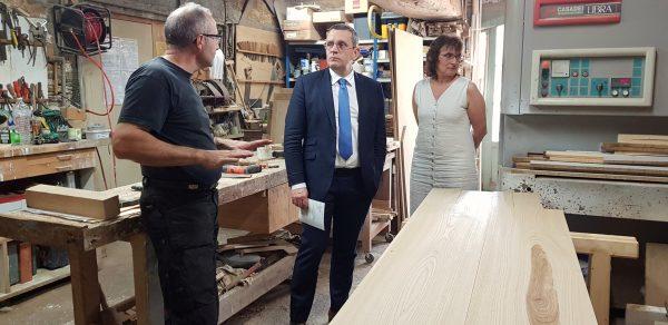 07/2018 - Nyoiseau - Visite de l'entreprise d'un artisan de la circonscription