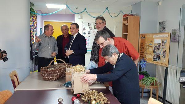 12/2017 - Noyant-la-Gravoyère - Visite de l'EHPAD Sainte-Claire