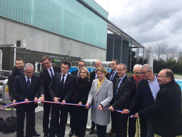 04/2018 - Angers - Inauguration de l'unité de traitement et d'injection de biogaz de la Beaumette