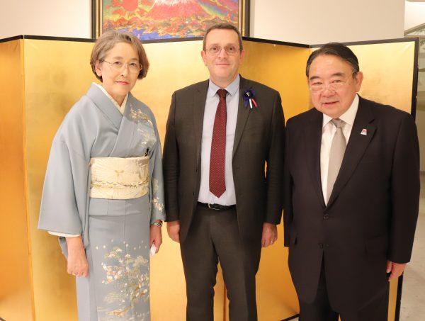 11/2018 - Paris, ambassade du Japon - Réception de l'ambassadeur du Japon en France pour le 85ème anniversaire de l'Empereur