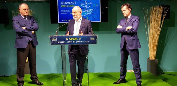 02/2019- Angers, salon du végétal - Inauguration du salon en présence de Didier Guillaume, Ministre de l'agriculture et de l'alimentation