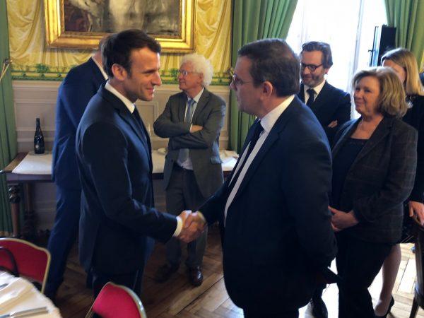 03/2019 - Angers, Préfecture - Accueil du Président de la République, Emmanuel Macron (photo Y. Tréca-Durand, Courrier de l'Ouest)