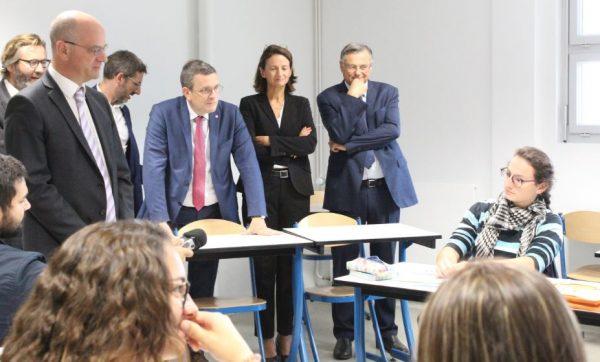 09/2019 - Segré-en-Anjou-Bleu - Visite officiel du ministre de l'éducation Jean-Michel Blanquer (photo A. Da Silva, Haut-Anjou)