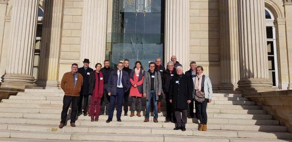 11/2019 - Paris, Assemblée nationale - Accueil d'une délégation d'élus locaux de la 7ème circonscription de Maine-et-Loire