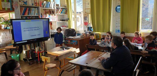 01/2020 - Carbay - Rencontre de la classe candidate à l'édition 2020 du Parlement des enfants
