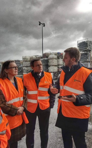 02/2020 - Segré-en-Anjou-Bleu - Visite de l'usine PAPREC de Segré-en-Anjou-Bleu dans le cadre de la mission OPECST sur la pollution plastique