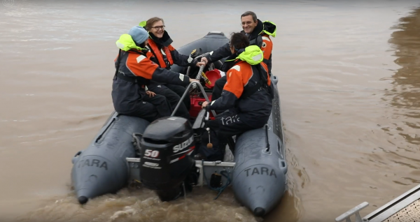 12/2019 - Bordeaux - Participation aux prélèvements de microplastiques dans la Gironde avec les scientifiques de l'expédition Tara Océan