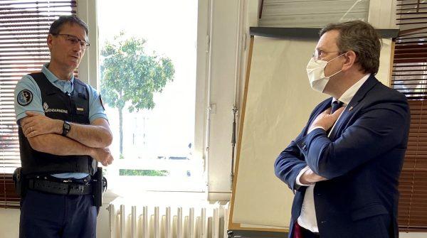 05/2020 - Segré-en-Anjou-Bleu - Visite de la Gendarmerie suite à la période de confinement