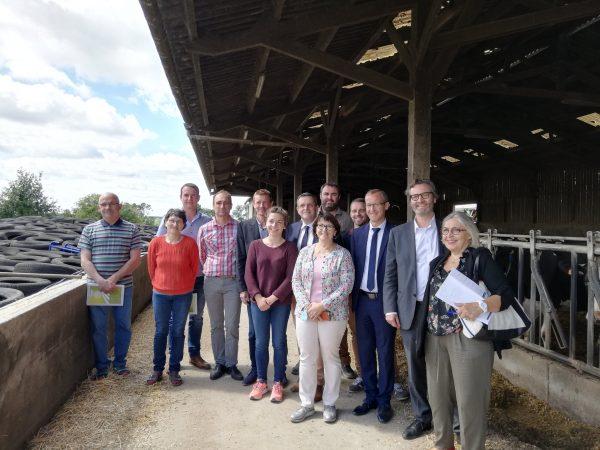 07/2020 - Combrée - Rencontre parlementaires - agriculteurs et élus locaux sur le thème de l'eau
