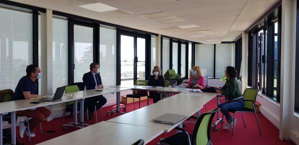05/2021 - Angers - Réflexion autour de la citoyenneté avec l'association Empreintes citoyennes et Régine Brichet, conseillère départementale de Maine-et-Loire