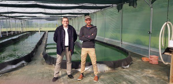 05/2021 - Ombrée-d'Anjou, Noëllet - Rencontre avec un producteur de spiruline de la circonscription