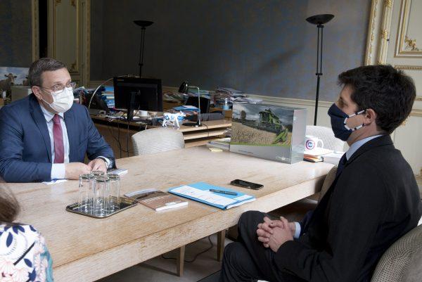 05/2021 - Paris, Ministère de l'agriculture - Réunion avec le Ministre de l'agriculture, Julien Denormandie (c) Cheick Saidou/agriculture.gouv.fr